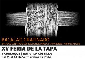 XV FERIA DE LA TAPA BACALAO C